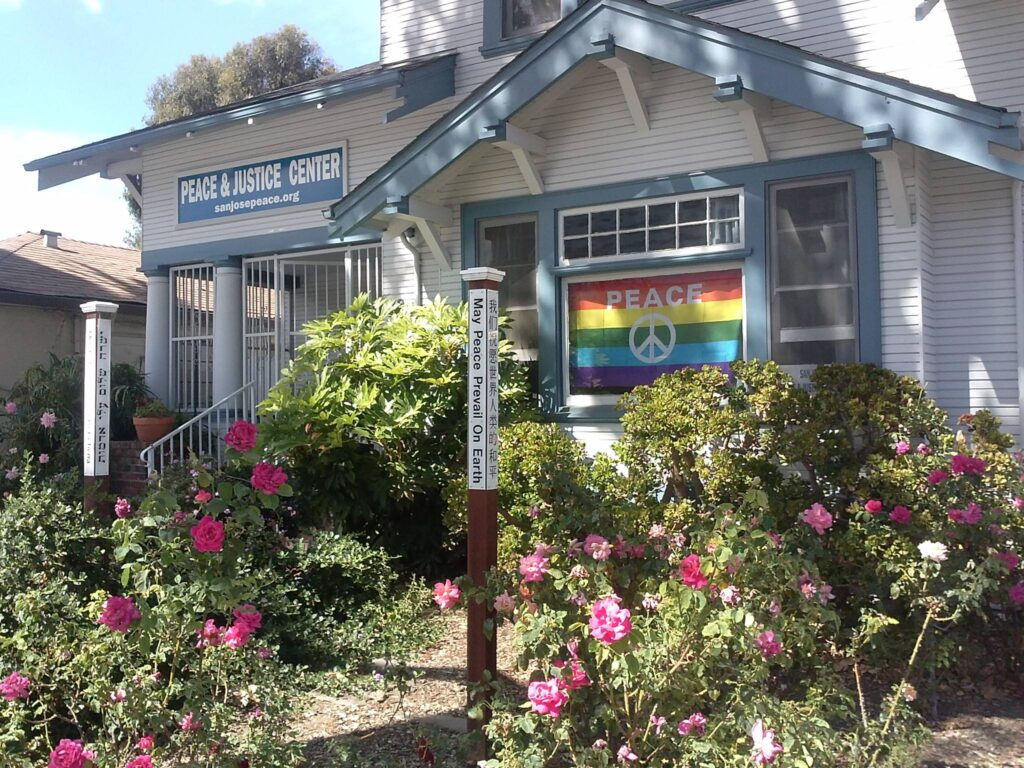 Image of the San Jose Peace & Justice Center entrance.