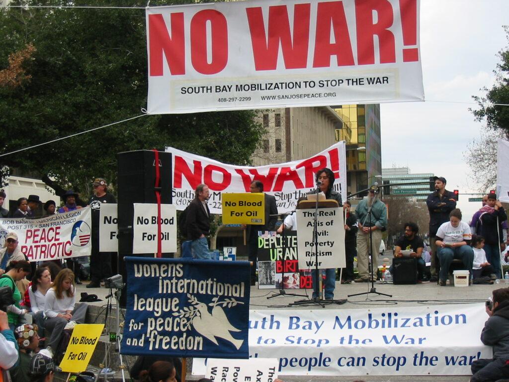 Antiwar banners