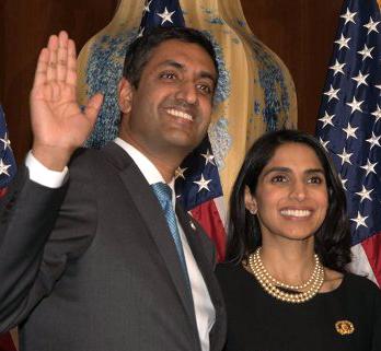 Ro Khanna and wife Ritu