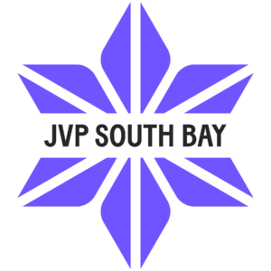 Purple star with a line of Black Text: JVP SOUTH BAY