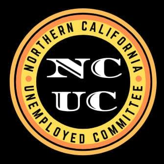 """Logo with """"Northern California Unemployed Committee"""" in a circle and """"NCUC"""" in the center"""